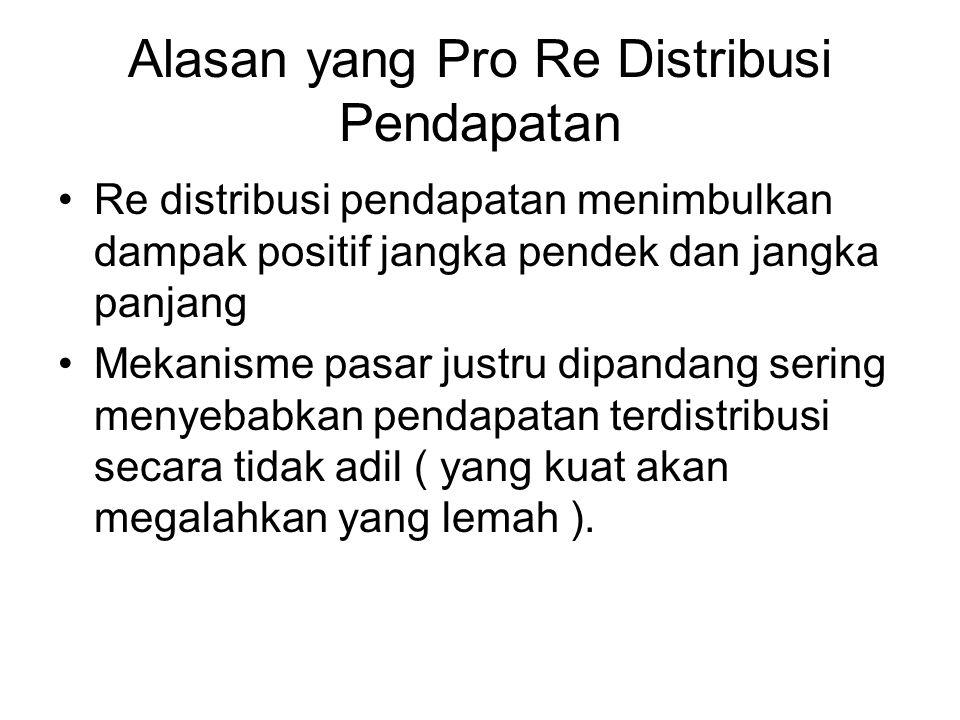 Alasan yang Pro Re Distribusi Pendapatan