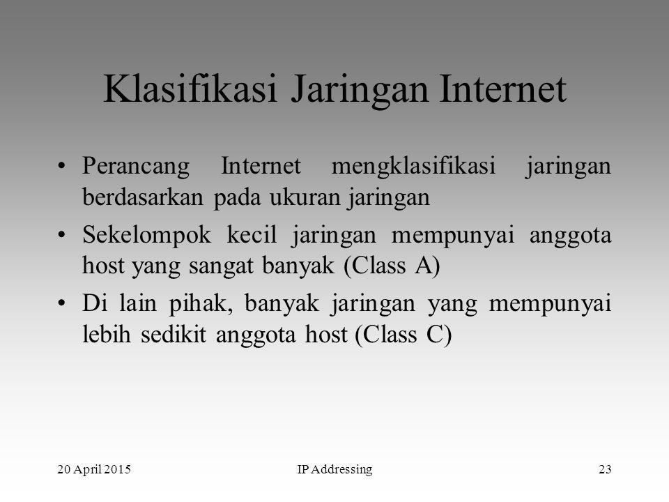 Klasifikasi Jaringan Internet