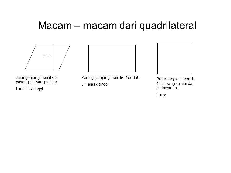 Macam – macam dari quadrilateral