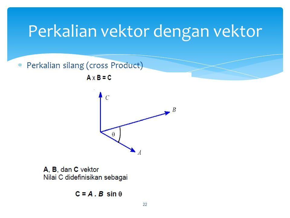 Perkalian vektor dengan vektor