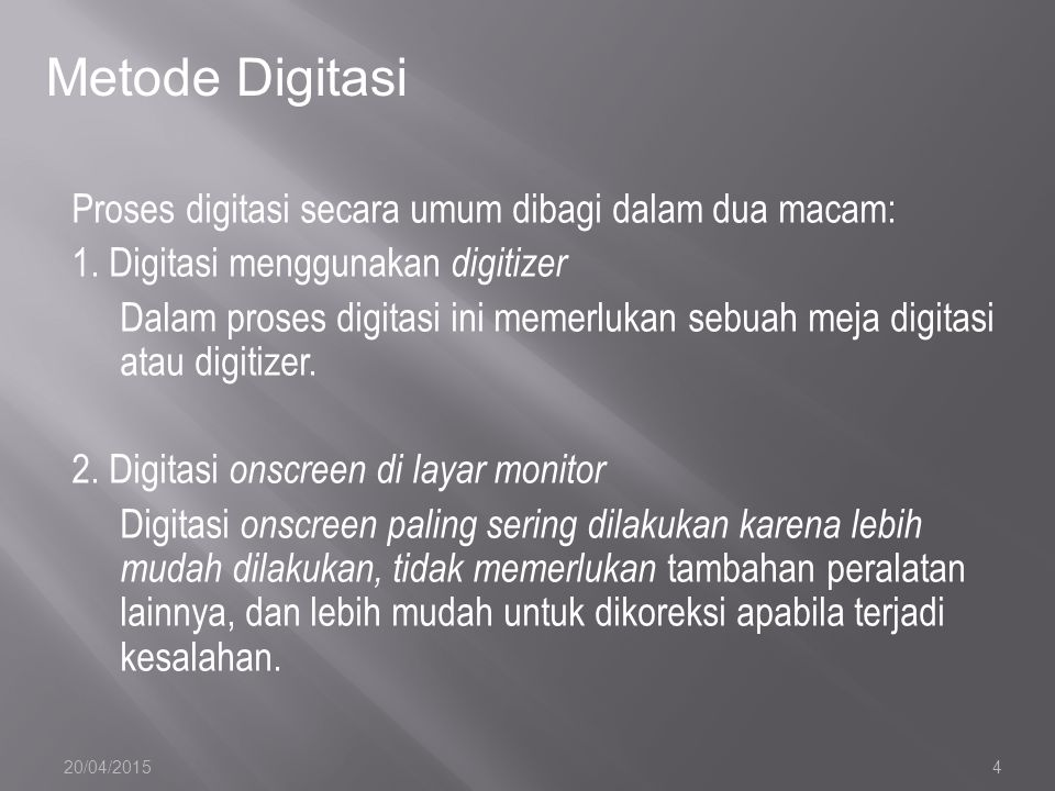 Metode Digitasi