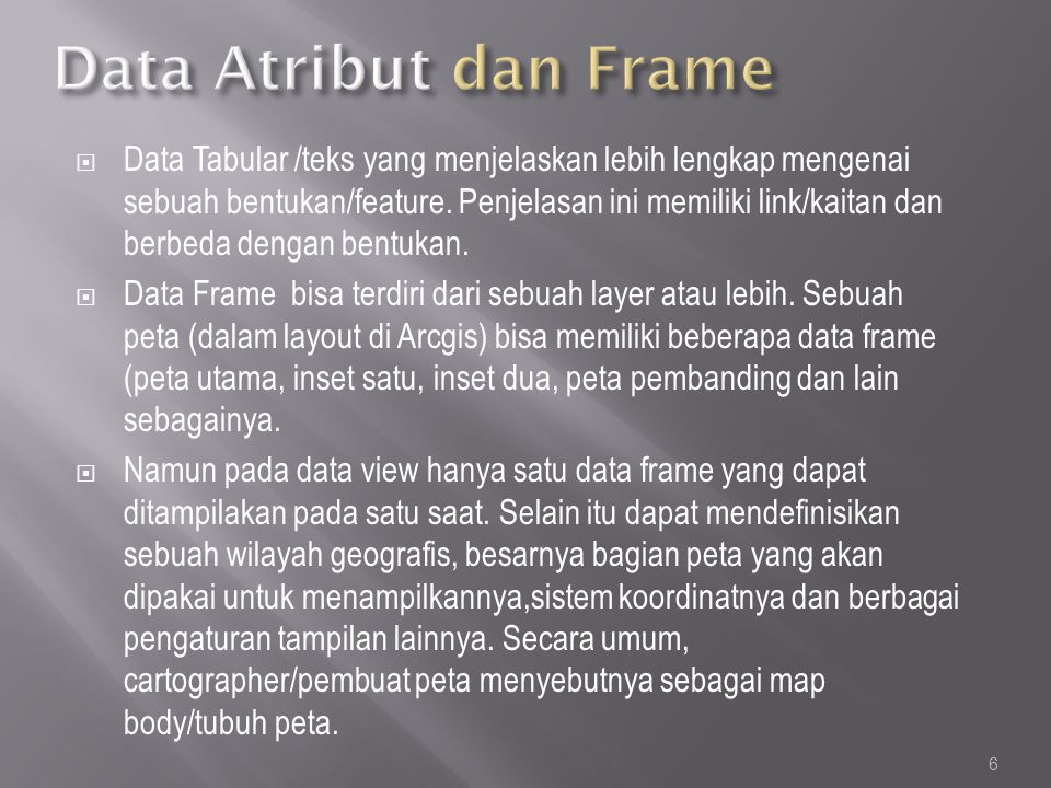 Data Atribut dan Frame