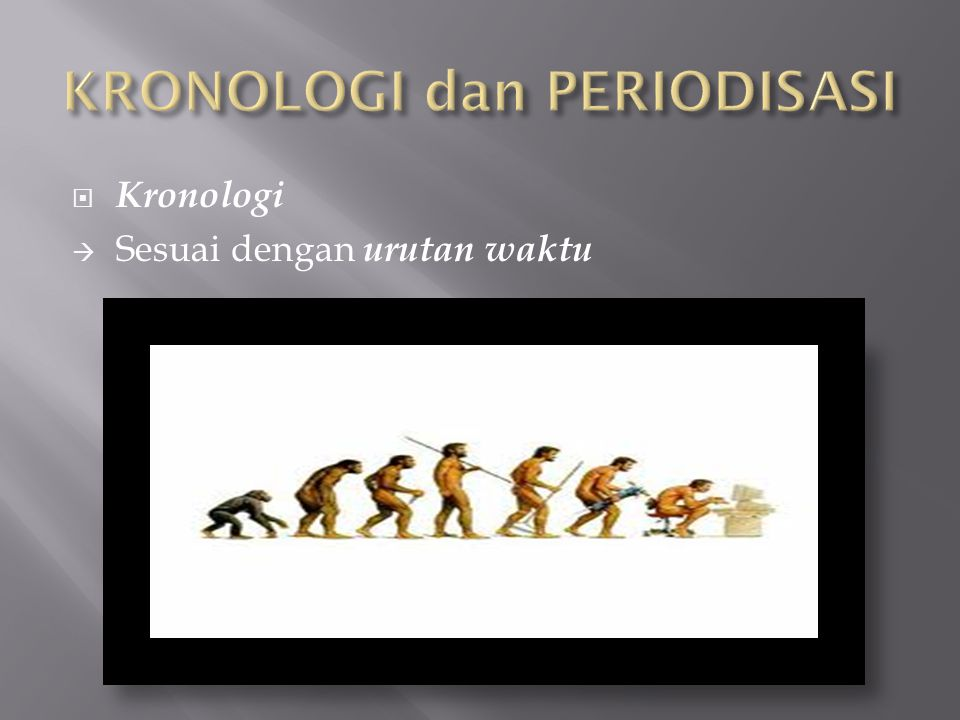 KRONOLOGI dan PERIODISASI