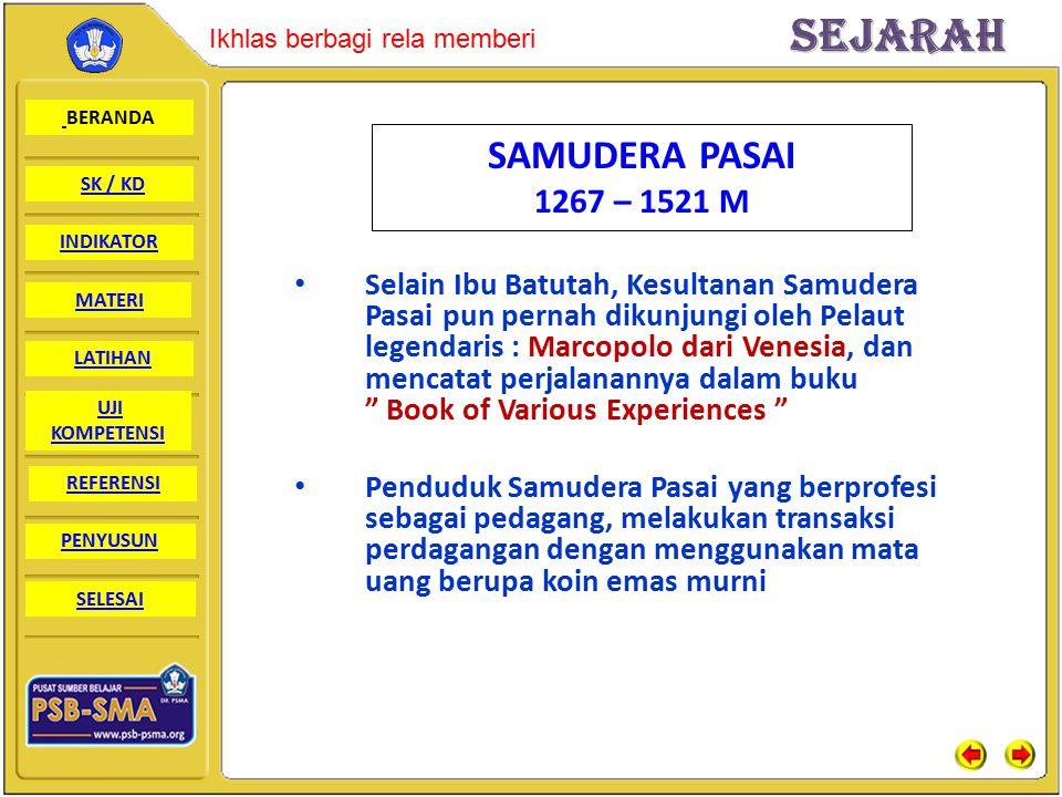 SAMUDERA PASAI 1267 – 1521 M