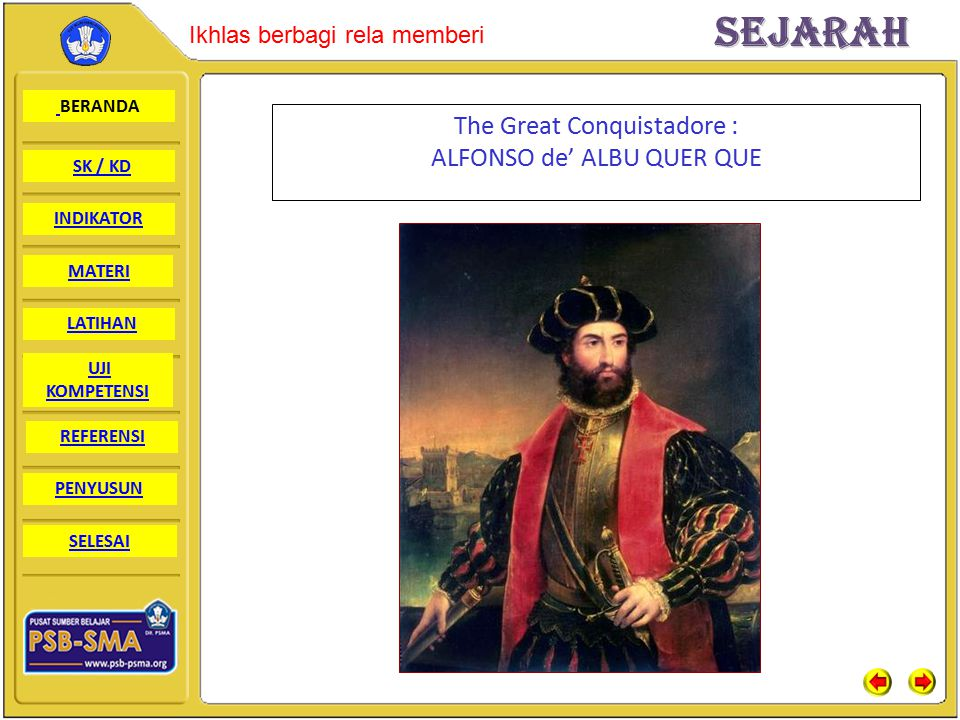 The Great Conquistadore : ALFONSO de' ALBU QUER QUE