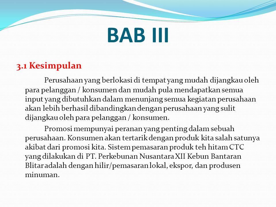 BAB III 3.1 Kesimpulan.