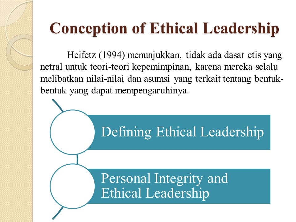 Conception of Ethical Leadership