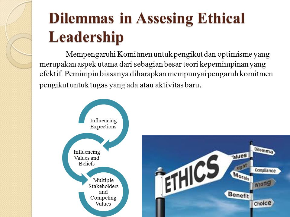 Dilemmas in Assesing Ethical Leadership