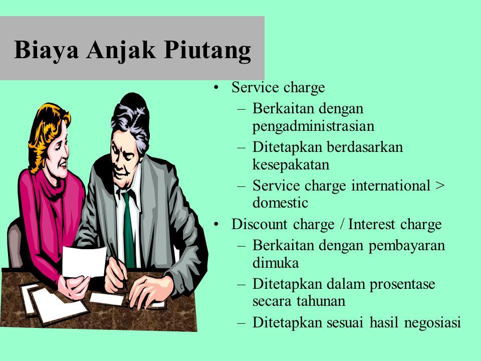 Biaya Anjak Piutang Service charge Berkaitan dengan pengadministrasian