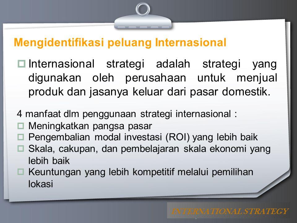 Mengidentifikasi peluang Internasional