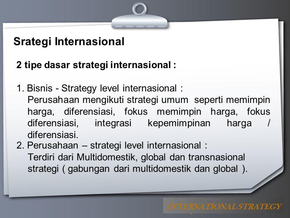 Srategi Internasional