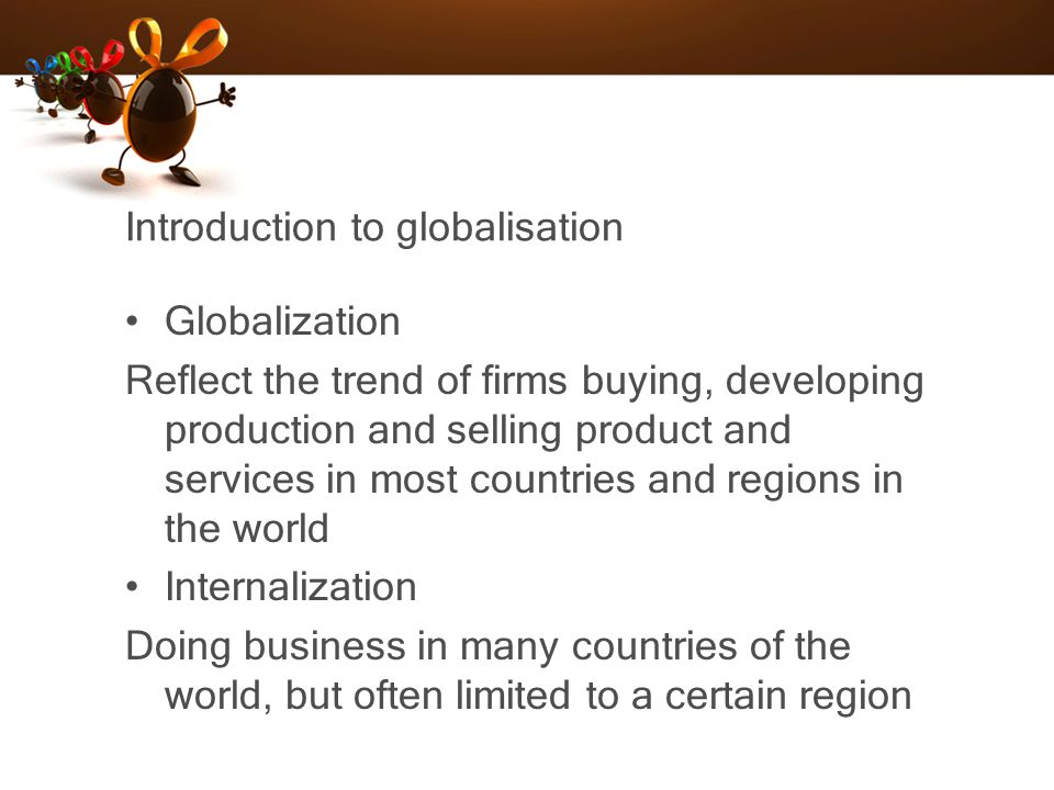 Introduction to globalisation