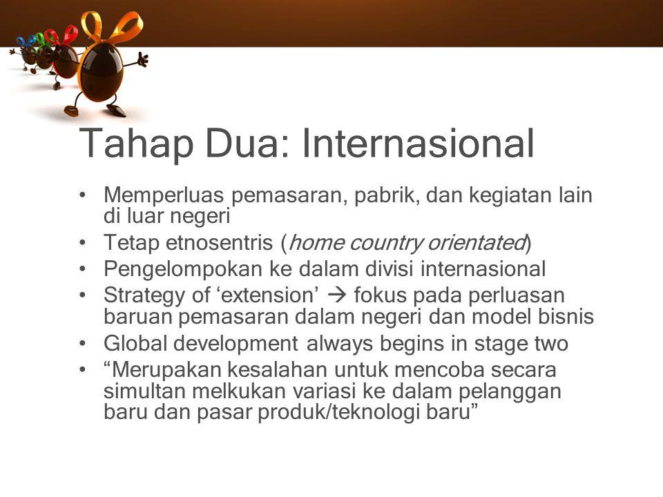 Tahap Dua: Internasional