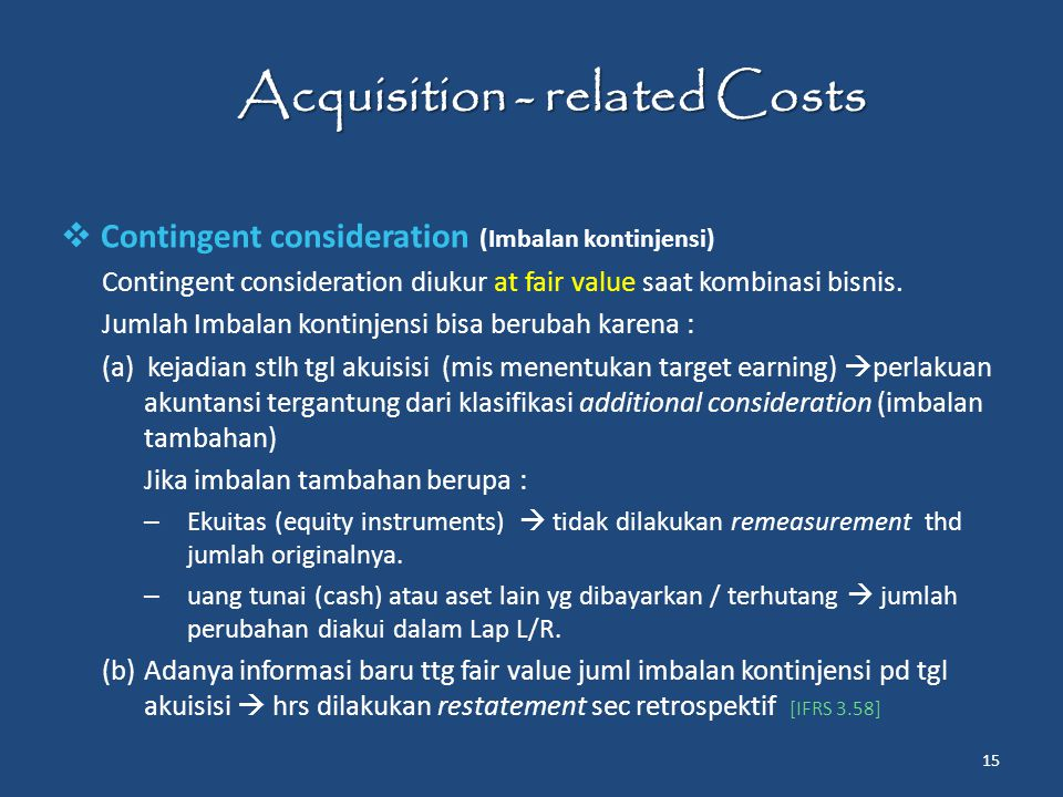Acquisition - related Costs