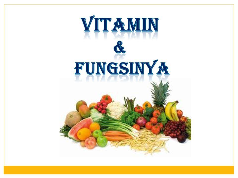 VITAMIN & FUNGSINYA