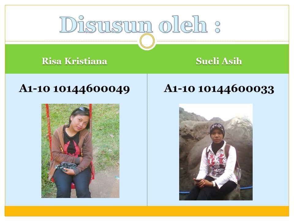 Disusun oleh : A1-10 10144600049 A1-10 10144600033 Risa Kristiana