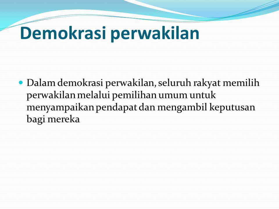 Demokrasi perwakilan