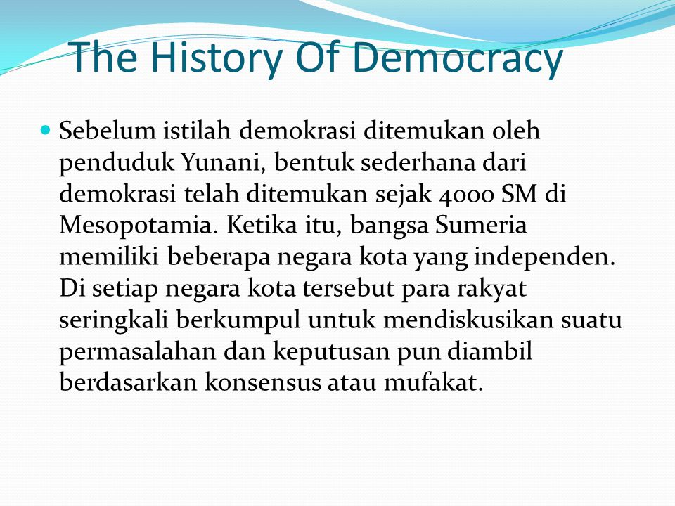 The History Of Democracy