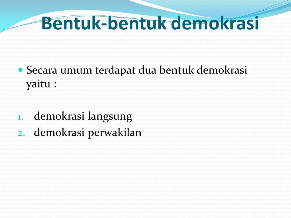 Bentuk-bentuk demokrasi