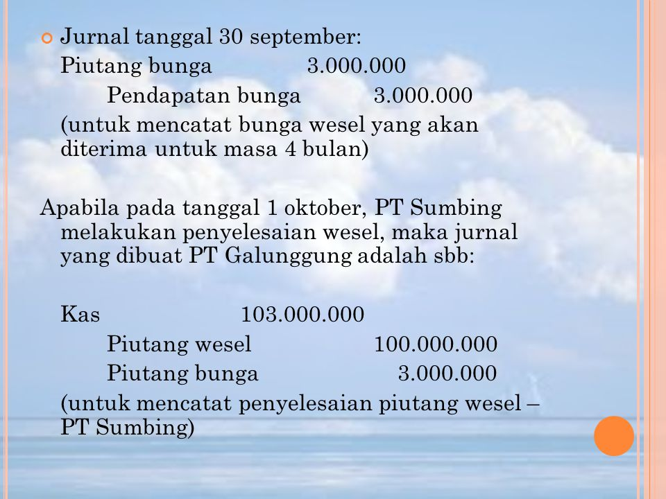 Jurnal tanggal 30 september: