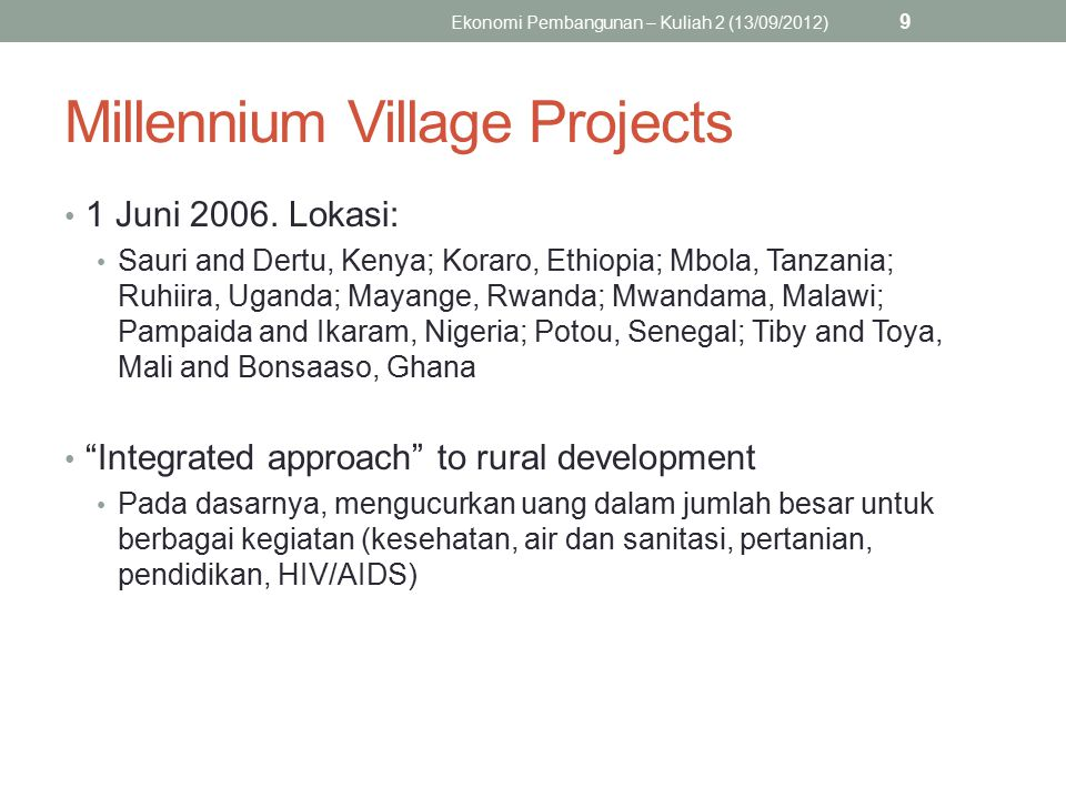 Millennium Village Projects