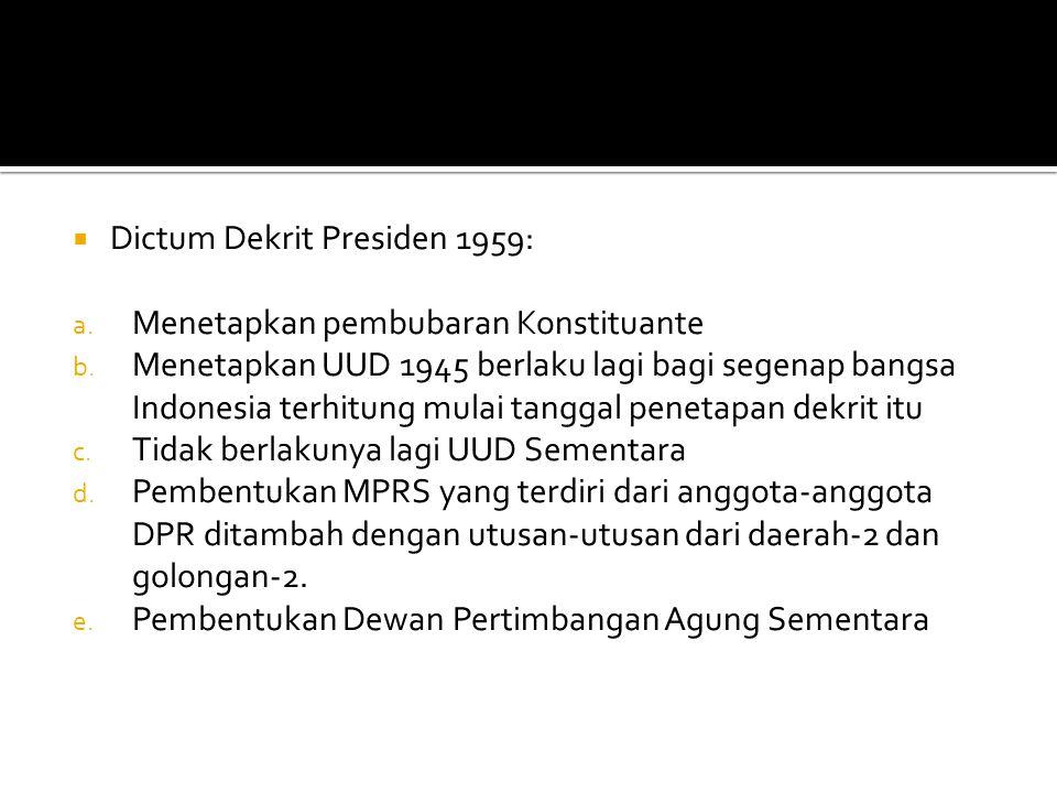 Dictum Dekrit Presiden 1959: