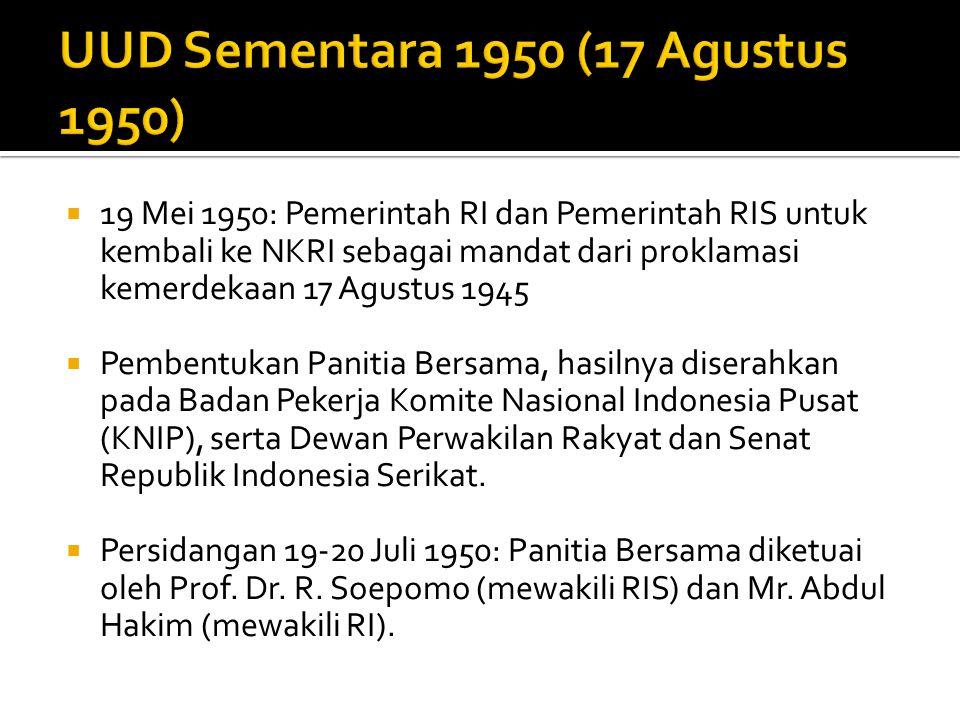 UUD Sementara 1950 (17 Agustus 1950)