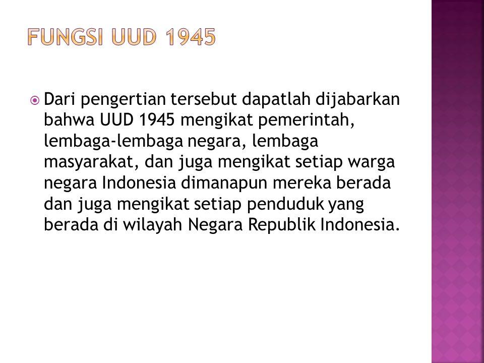 FUNGSI UUD 1945