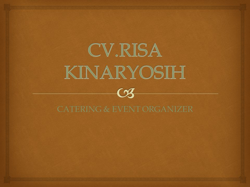 CATERING & EVENT ORGANIZER