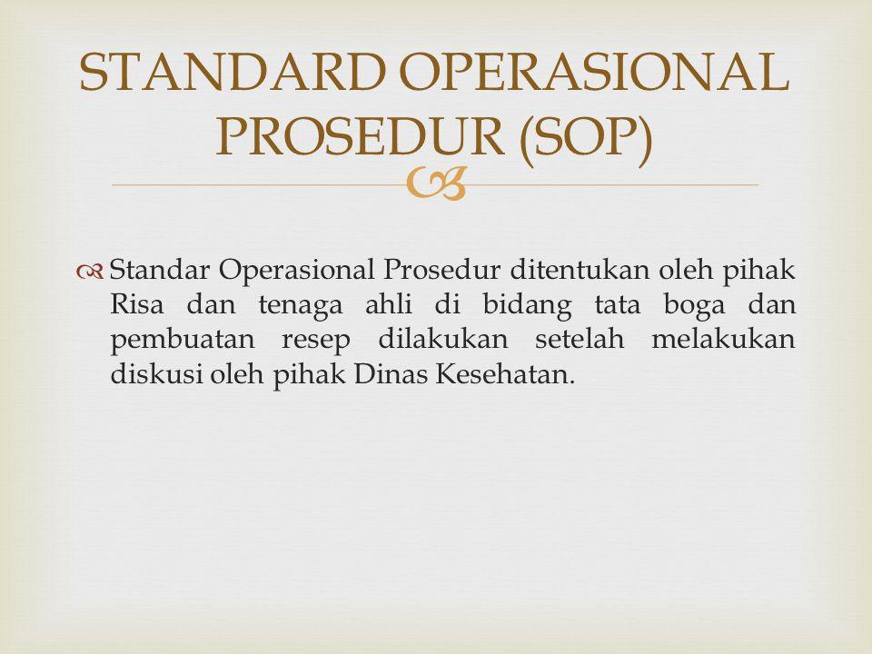 STANDARD OPERASIONAL PROSEDUR (SOP)