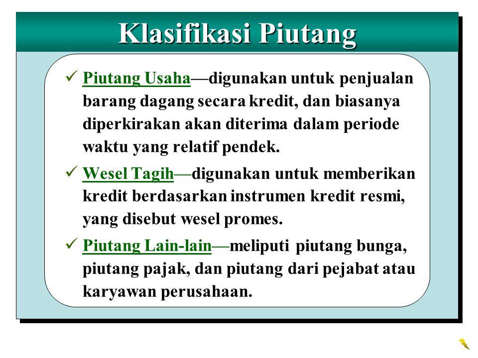 Klasifikasi Piutang