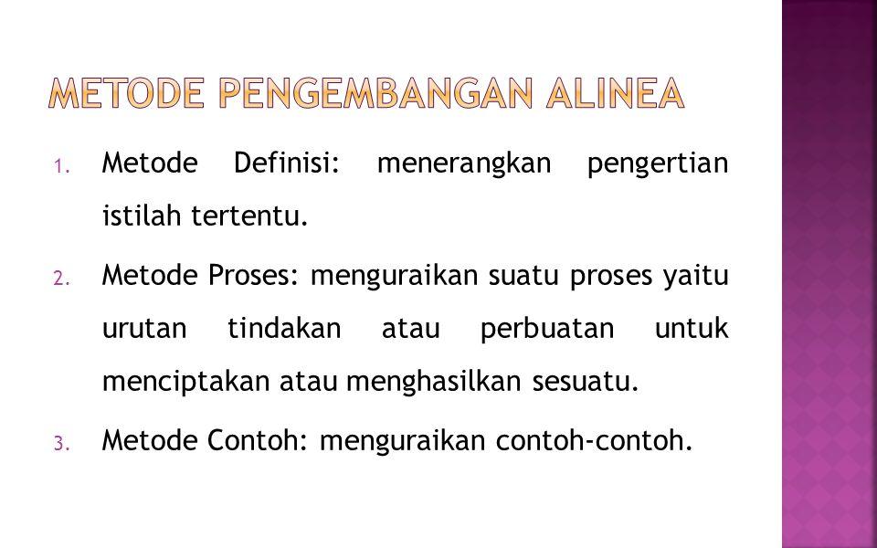 Metode Pengembangan Alinea
