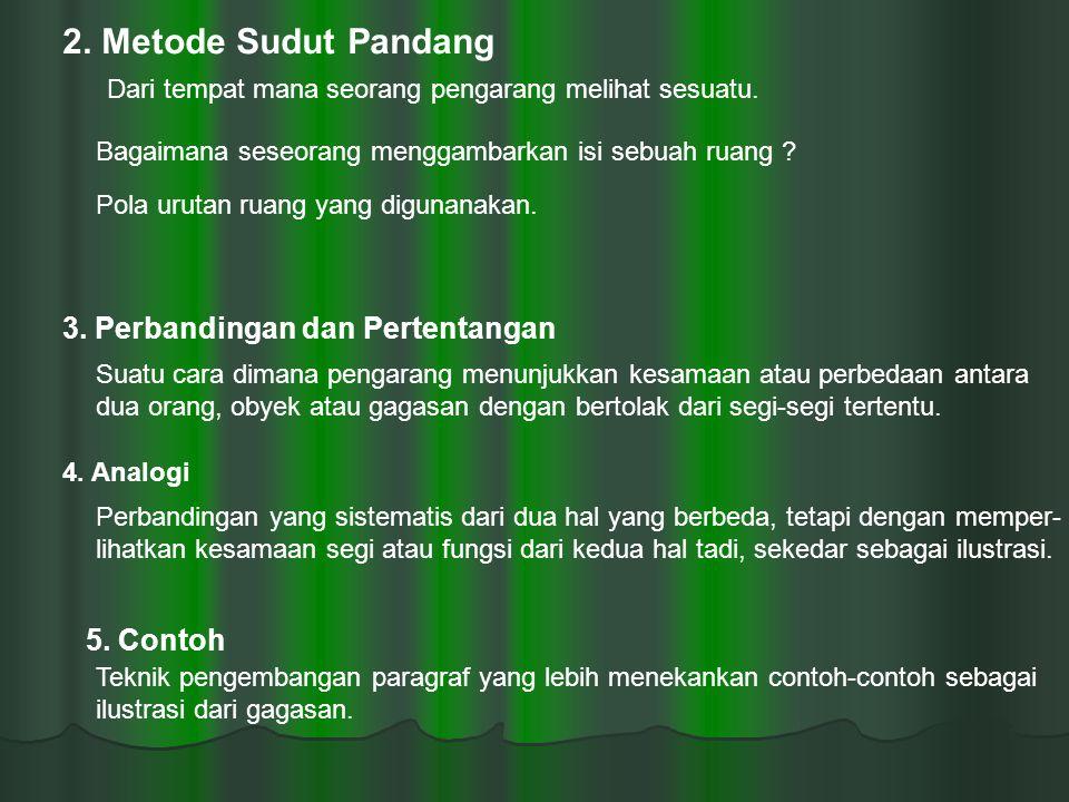 2. Metode Sudut Pandang 3. Perbandingan dan Pertentangan 5. Contoh