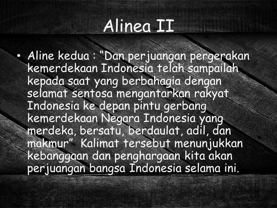 Alinea II