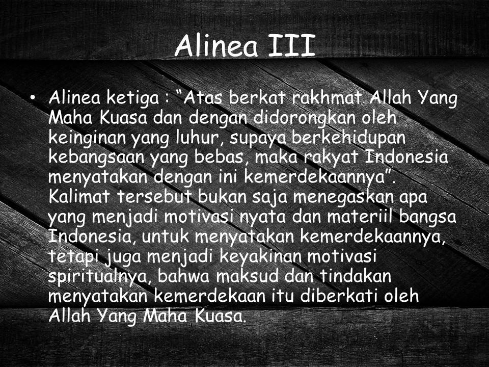 Alinea III