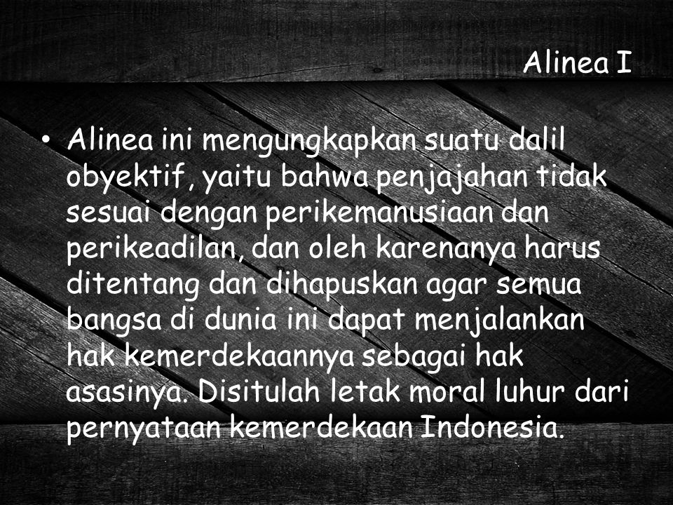 Alinea I