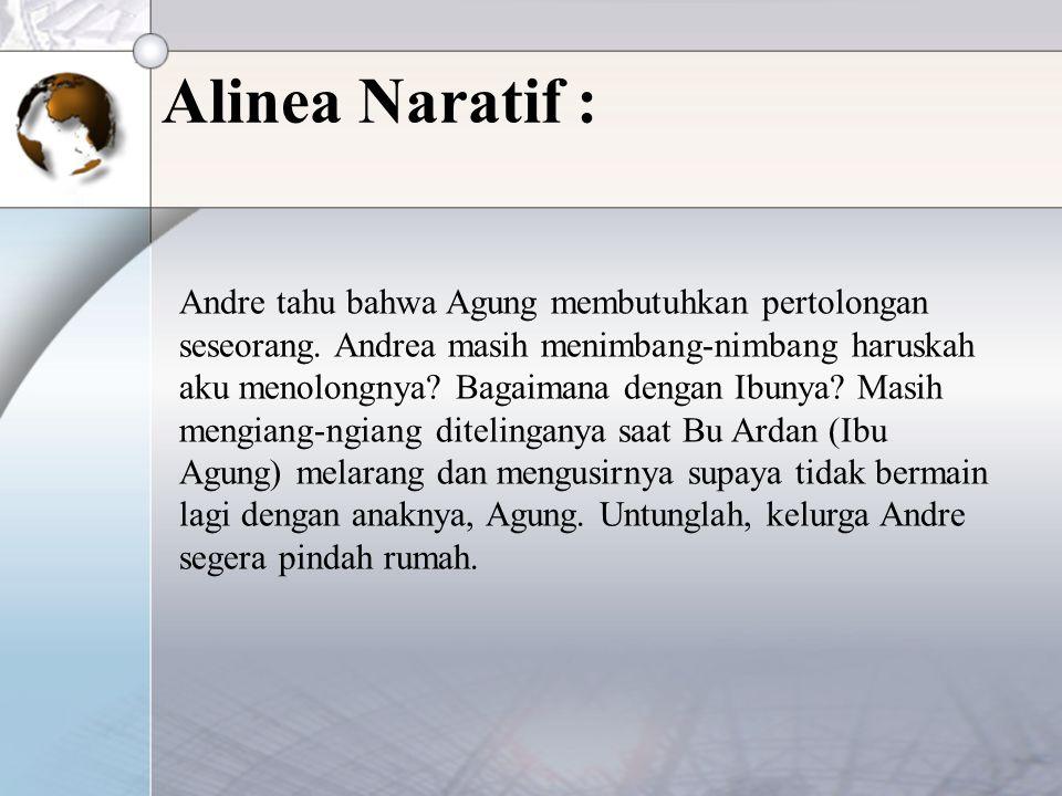 Alinea Naratif :