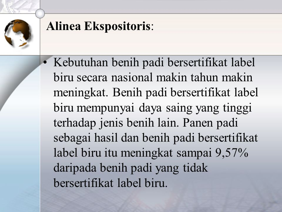 Alinea Ekspositoris: