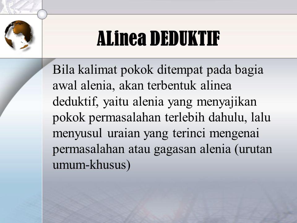 ALinea DEDUKTIF