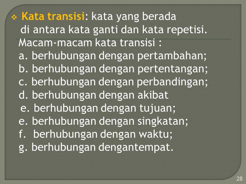 Kata transisi: kata yang berada