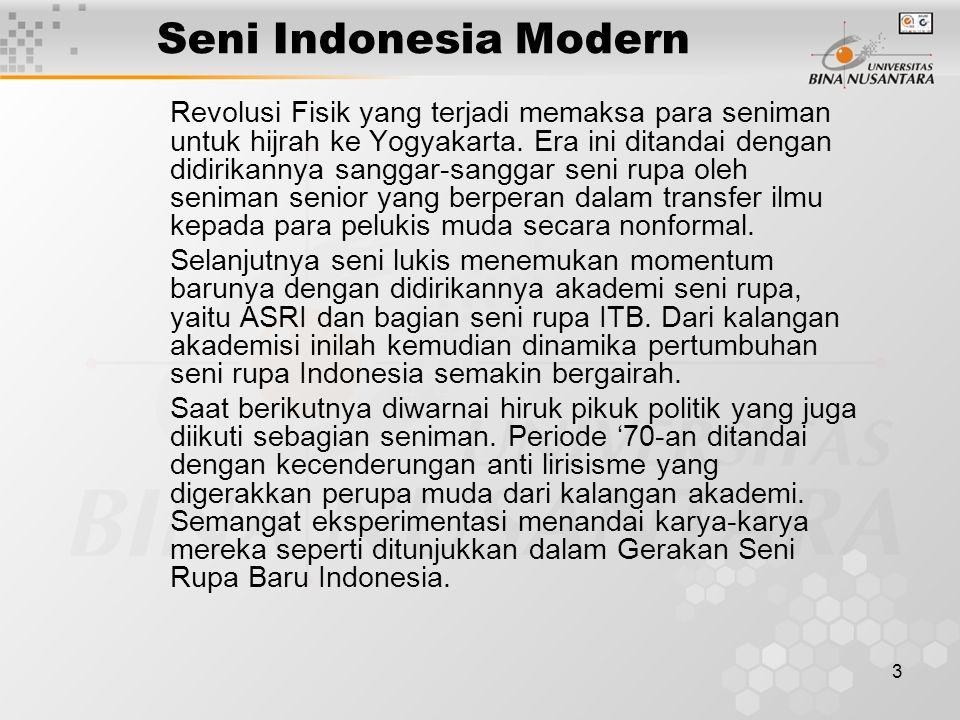Seni Indonesia Modern