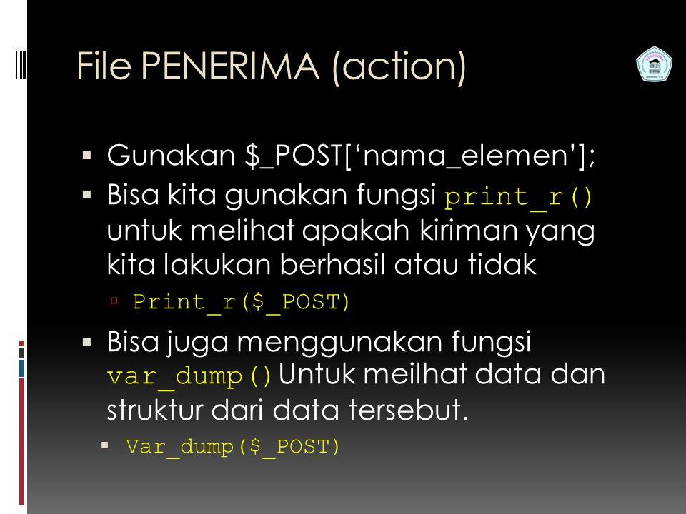 File PENERIMA (action)
