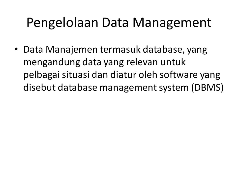 Pengelolaan Data Management