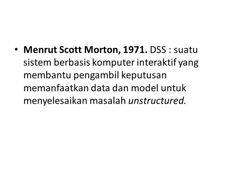 Menrut Scott Morton, 1971.