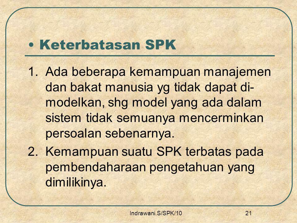 Keterbatasan SPK