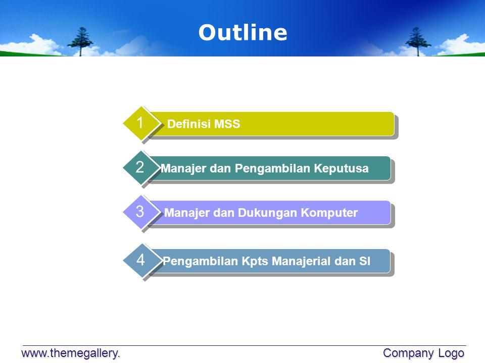 Outline 1 2 3 4 Definisi MSS Manajer dan Pengambilan Keputusa