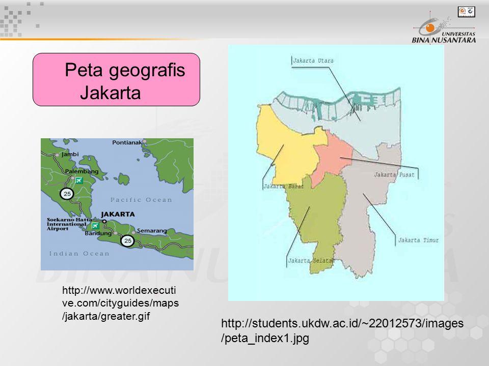 Peta geografis Jakarta