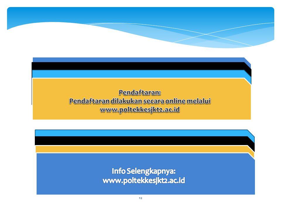 Pendaftaran dilakukan secara online melalui