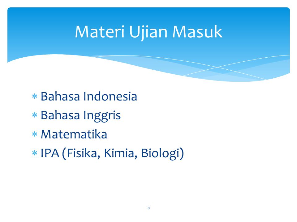 Materi Ujian Masuk Bahasa Indonesia Bahasa Inggris Matematika