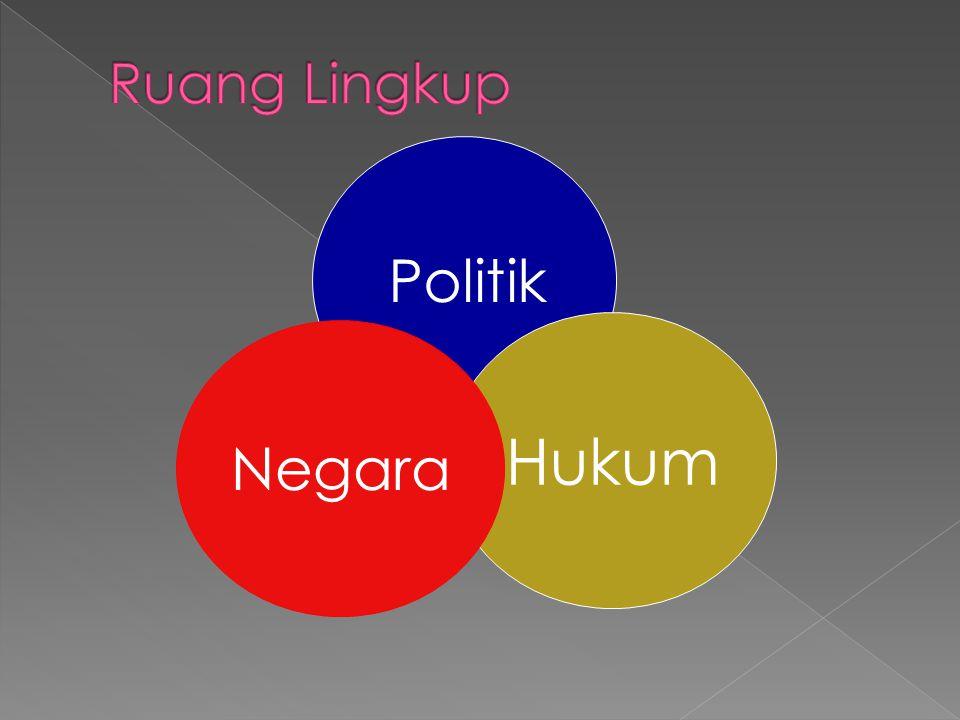 Ruang Lingkup Politik Hukum Negara